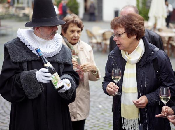 Drinking wine along a legend
