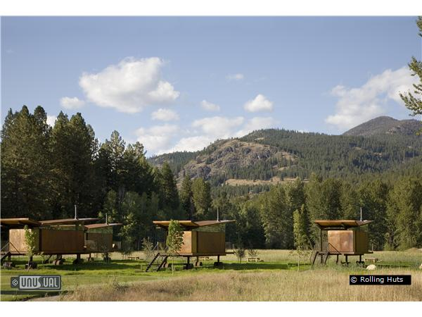 Rolling Huts designer cabins in Winthrop Washington