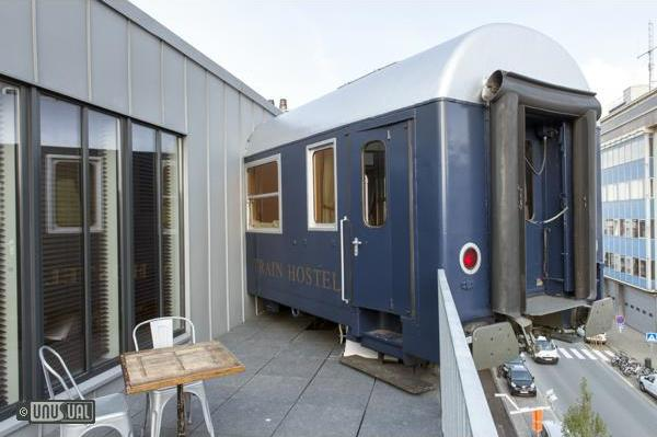 Train Hostel Railway Carriages Converted Into Penthouse